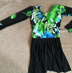 Φόρεμα για χορό και γυμναστική, ύψος 134