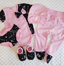 Cotton jersey set. New
