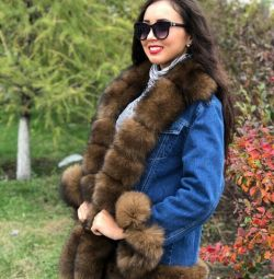 Natural fur jacket