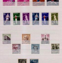 Іспанія - повні серії марок різної тематики