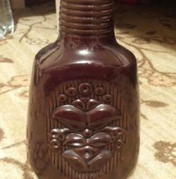 Ceramic hand carafe.