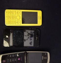 Parçalar için telefonlar