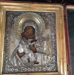 Старинная икона Владимирская Божья Матерь