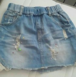 Children's denim skirt