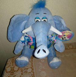 Jucarie moale elefant nou