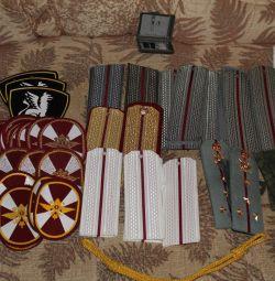 Shoulder straps, ties, mufflers, winter hat