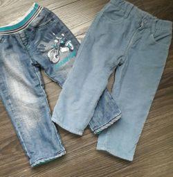 Kadife pantolon ve kot pantolon