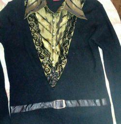 Jacket combinat cu o cămașă