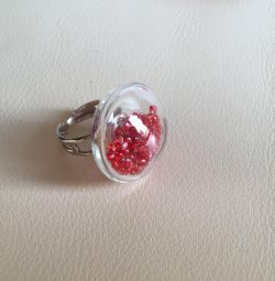 Ring NEW with Murano glass tag