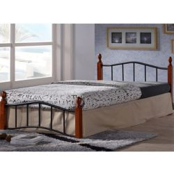 Lucy Metal Wood Bed 110x190