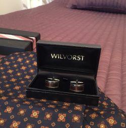 WILVORST cufflinks and men's neckerchief