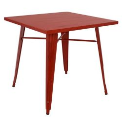 TABLE METAL IN COLOR RED PATINA HM0608.7