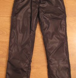 Trousers made of plaschevki on fleece button blue