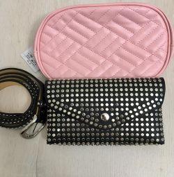Bag Μαύρη τσάντα μέσης συμπλέκτη
