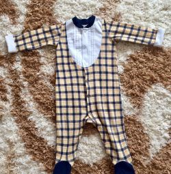 Overalls for a boy 74p 2pcs and a sweatshirt 74r
