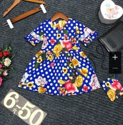 Summer dress with clutch for girl
