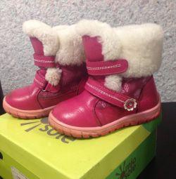 Ботинки зима р 25 по стельке 17 см, бу неск/ раз н