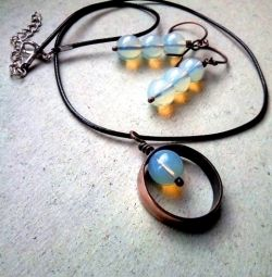 Jewelry set LUNAR SONATA with opalite