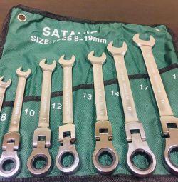 Новые трещоточно-поворотные ключи 8-19мм SataVip