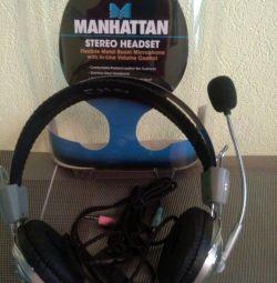 Căști și microfon Manhattan