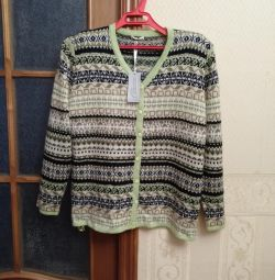 Blouse wool with maher