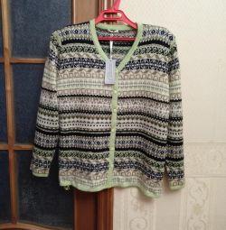Bluza de lână cu maher