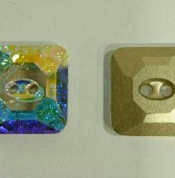 Κουμπιά SWAROVSKI πρωτότυπο 3017 16mm Crystal AB