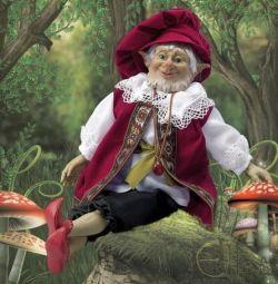 Doll - Elf Dagda - bogăție, abundență de 40cm.
