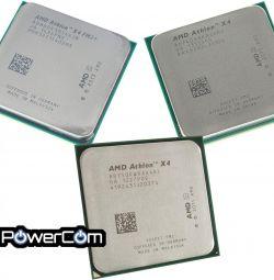 Processors AMD Athlon II X4 740k, 750k, 860k.