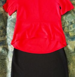 Costum nou: fustă + bluză