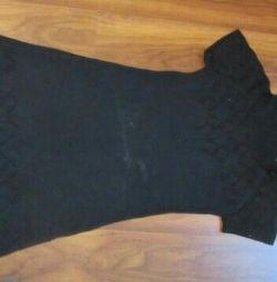 Πλεκτό μαύρο φόρεμα