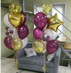 Fotoğraf bölgesi helyum balonları