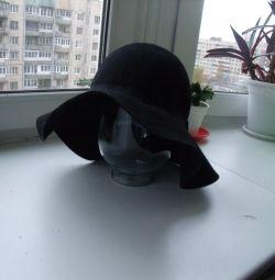Стильная новая шляпа Швеция, шерсть р.58