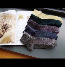 Носки блестящие модные