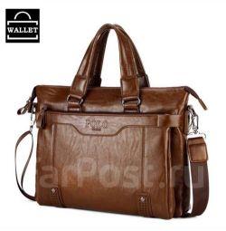 Мужская сумка Polo светло коричневая