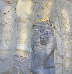 Jeans Nou la dimensiunile 26,27,28 și 29.