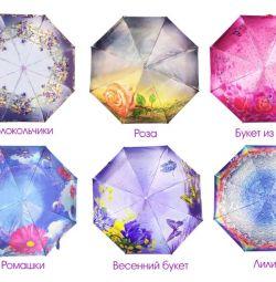 Ομπρέλα θηλυκό αυτόματο Λουλούδια DINIYA νέα