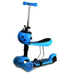 New ones. Three-wheeled 3v1 scooter with light blue count
