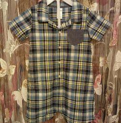 Carters (Carters) κοντομάνικο πουκάμισο με λοξότριχο 24μ νέο