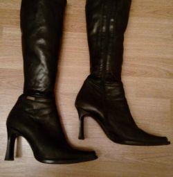 Υψηλές μπότες, δερματίνη (άνοιξη - φθινόπωρο)