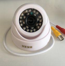 Color dome camera with night illumination
