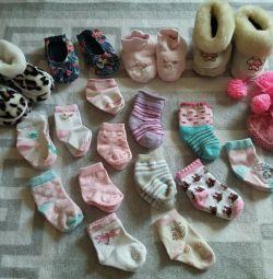 носочки, пинетки 18 ζεύγη 0 μήνες - 1 έτος