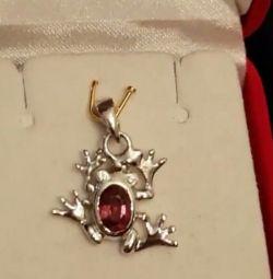Pomegranate pendant with alex .. effect