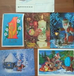 Postcards and envelope USSR and 90e