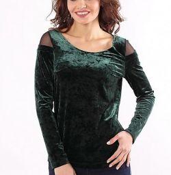 Новая блузка из бархата на размер 54