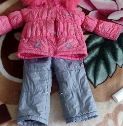 Salopete de iarnă pentru mătile fetei ca cadou