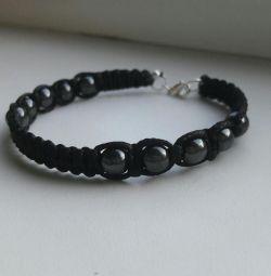 Male hematite bracelet