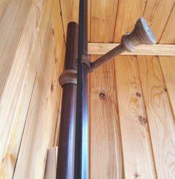 Карниз деревянный двойной длина 220