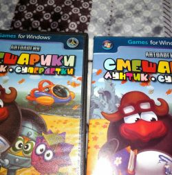 2 CDs with Smeshariki games