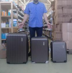 Νέες 11 βαλίτσες πλαστικές βαλίτσες